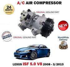 FOR LEXUS ISF 5.0 V8 2UR-GSE 2008-2013 NEW ORIGINAL AC AIR CONDITION COMPRESSOR