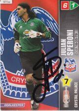 JULIAN SPERONI HAND SIGNED CRYSTAL PALACE PANINI 2008 CHAMPIONSHIP TRADING CARD