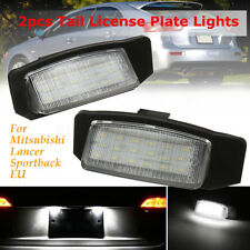 2x LED License Plate Light Lamp For Mitsubishi Lancer Sportback Outlander EUR