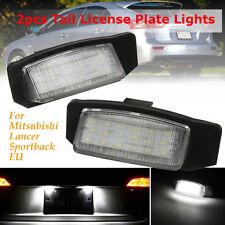 2x LED License Plate Light Lamp For Mitsubishi Lancer Sportback Outlander EUR