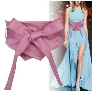 Fashion Fabric Soft Waist Belt Women Self-tie Bow Slim Corset Coat Dress Belts