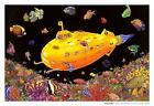 Laminated Yellow Submarine Blacklight Poster 32x22