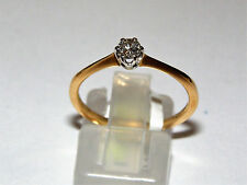 ANELLO ORO 18KT DIAMANTE CT 0.15 RING GOLD DAIMOND Or DIAMANT ANNEAU DE Diamant-