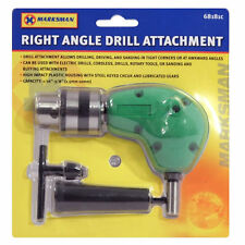 """RIGHT ANGLE DRILL ATTACHMENT CHUCK KEY ADAPTER 3/8"""" DIY TOOL ACCESSORY CORDLESS"""