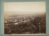1890ca MESSINA PANORAMA foto originale d'epoca all'albumina Giorgio Sommer
