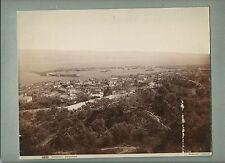 1890ca MESSINA PANORAMA foto originale d'epoca all'albumina Giorgio Sommer