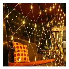 LED Net Lights 6.6ft x 9.8ft Warm White,Party Background Light,8 Modes