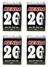 """KENDA 26"""" Car Valve Schrader Mountain Bike Inner Tube x 4"""