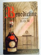 1940s BENEDICTINE LIQUEUR D.O.M. BOOKLET ~ HISTORY + RECIPES  Printed In FRANCE