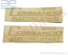 "NEW NORTON "" COMMANDO 850 ELECTRIC START  "" STICKER DECAL SET GOLDEN  @CAD"
