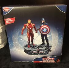 Nib Disney Store Limited Edition Captain America And Iron Figurine