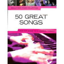 Klavier Noten - 50 GREAT SONGS  -REALLY EASY PIANO -From Pop to Classical Themes
