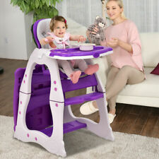 3 in 1 Baby High Chair Convertible Play Table Seat Booster Toddler Baby Tray