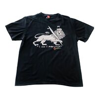 Vintage Quicksilver Short Sleeve T Shirt Men's Size XL Black~Lion w/surfboard