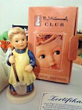 "New ListingGoebel Hummel Figurine Garden Treasures Girl #1222 Club 1998 3 5/8"" Vintage"