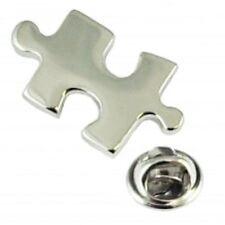 Jigsaw Puzzle Piece Autism Lapel Pin Tack Tie
