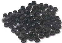 LEGO - 100 x Rundplatte 1x1 schwarz / Black Plate Round / 4073 NEUWARE (L13)