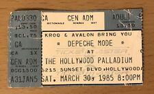 1985 Depeche Mode Hollywood Palladium Concert Ticket Stub Some Great Reward 2