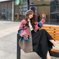 2019 Spring New Lazy Wind Knit Cardigan Women's Korean Style Loose Sweater Coat