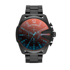 DIESEL DZ4318 Mega Chief Black Ion pPated Stainless Steel Analog Men's Watch