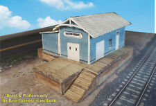 Z Scale Building -Trackside Freight Depot (Cover Stock PRE-CUT PAPER Kit) FDZ1