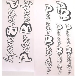 Peter Bundy decals one set per sale choices
