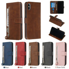 For iPhone Max XR Xs X 6s 7 8 Phone Case Cover Card Wallet Flip PU Leather Stand