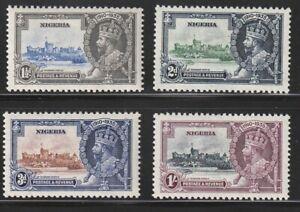 Nigeria   1935   Sc # 34-37   Silver Jubilee   MLH   OG   (4029-3)
