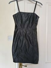 H&M Faux Leather Mini Dress Size 10, never worn