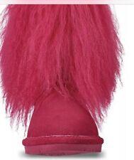 Bearpaw Boo Fur Pink Kids Boots (toddler Size 10)