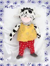 Doudou Peluche Vache Blanc Et Noir Pantalon Rouge Pois Blanc Haut Jaune Ikea