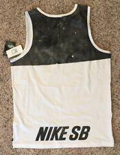 Nike SB Space Block Tank Top White 642367 100 Size L
