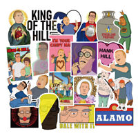 50Pcs King of the Hill Stickers Vinyl Skateboard Laptop Luggage Decals Pack Lot
