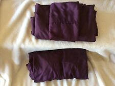 Lqqk! Burgundy Wine Polyester Twin Size 3 pc Bed Sheet Set Fitted/Flat/Pillow *
