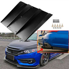 "22""x20"" Black ABS Universal 4 Fins Car Rear Bumper Spoiler Diffuser Wing Lip"