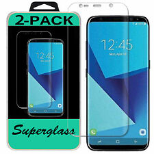 2X Samsung Galaxy S8 Plus Superglass HD Clear Full Coverage Screen Protector