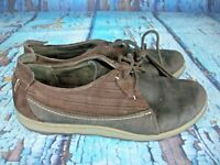 Merrell Ashland Tie Coffee Bean Brown Leather Women's Casual Shoes Size: 9