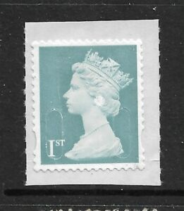 GB ERROR, 1ST CLASS STAMP WITH FLAW, WITH ROUND EARRINGS