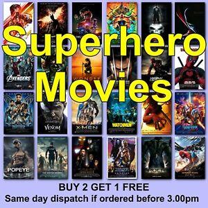 Poster Superhero Classic Movie Posters Film Poster  HD Borderless Prints