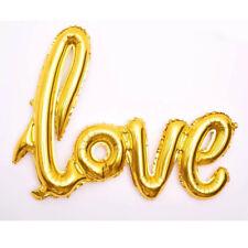 "Golden Love Foil Ballons 42"" Love Letter Birthday Wedding Party Venue Decor #W"