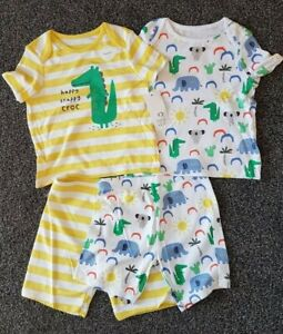 BNWT boys set of 2 short pyjamas pjs 2-3 years crocodile