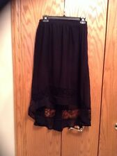 FOREVER 21 - Junior's Black Asymmetrical High Low Layered Lace Skirt (Sz S) NWOT