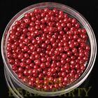 New 100pcs 4mm Round Glass Pearl Loose Spacer Beads Jewelry Making Red