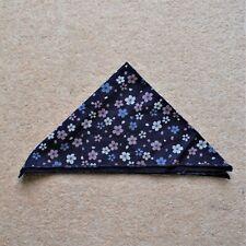 Navy Blue Floral Patterned Pocket Square (Approx. 34 x 34cm)