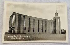 Real Photo Postcard Mennonite Brethren Church Corn OK 1940s/50s Unposted