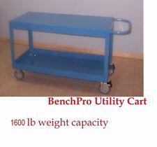 "BenchPro Heavy Duty Cart w/Dual Shelve Platform Top 25""D x 41""W 1600 Lb Capacity"