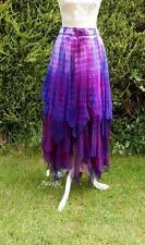 Faerie Witchy tie dye Zig Zag Skirt wicca boho fairy pagan style by Jordash