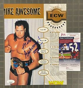 Mike Awesome WWF ECW Signed Autograph Auto Magazine Photo JSA d. 2007