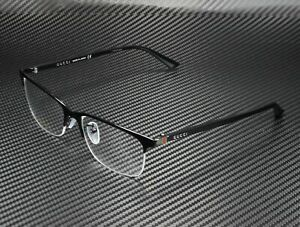 GUCCI GG0132Oj 001 Rectangular Square Black Demo Lens 56 mm Unisex Eyeglasses