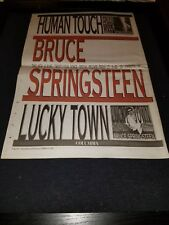 Bruce Springsteen Human Touch Lucky Town Rare Original UK Promo Poster Ad Framed